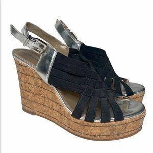 Antonio Melani Strappy Wedge Sandal Heel Size 5.5